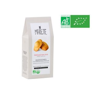 Organic baking mix preparation for madeleine with fleur de sel from Ile de Re - for 24 pieces