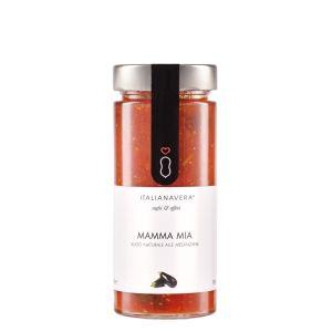 Fresh tomato sauce with fresh eggplants - 280g - natural ready-sauce