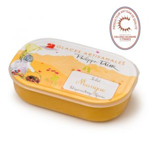 Artisanal mango sorbet - 750ml (frozen) - EXPIRY 23.06 - 100% natural, no coloring, no taste enhancer, no artificial aroma, no preservative