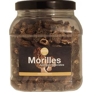 Dried morels, no tail, size 3/5 - 250g