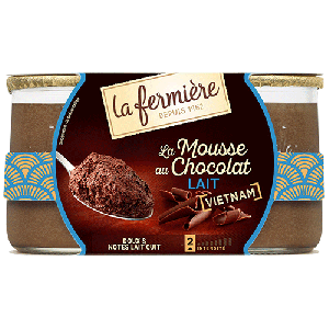 Milk chocolate mousse - 2 x 125g - 7 days minimum shelf life