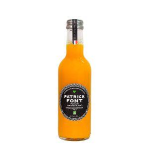 Pure organic orange juice in glass bottle - 250ml