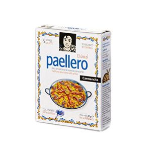 Paellero, paella seasoning with saffron - 5 bags of 6g - Gluten-free
