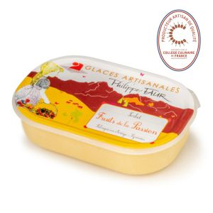 Artisanal passion fruit sorbet - 750ml (frozen) - EXPIRY 22.06 - 100% natural, no coloring, no taste enhancer, no artificial aroma, no preservative