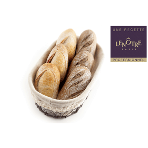 Pre-baked Lenotre multicereals bread roll - 60 x 45g (frozen) / follow our cooking tip