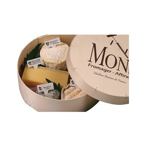 "Selection of 5 French farm cheese ""classic"" / cheese platter - 750g (9006B)"