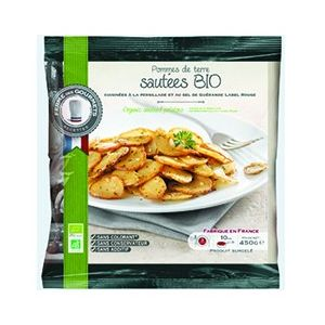 Organic sauted potatoes - 450g (frozen) no preservative, no additive, no colouring