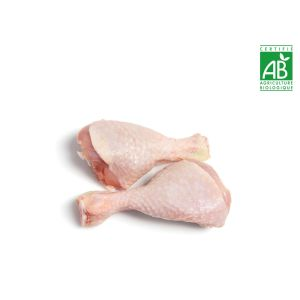 Organic free-range yellow chicken 2 x whole leg skin-on - 800g (halal) (frozen)