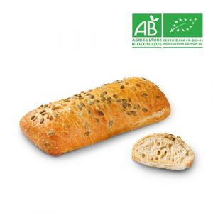 Pre-baked organic spelt & pumpkin seeds loaf - 450g (frozen) - follow our cooking tip