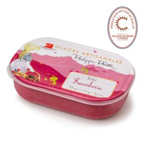 Artisanal raspberry sorbet - 750ml (frozen) -  EXPIRY 25.06 - 100% natural, no coloring, no taste enhancer, no artificial aroma, no preservative