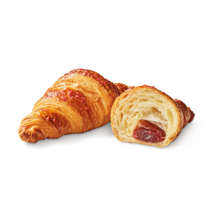 Pre-baked raspberry croissants 6 x 90g - (frozen) - generic packaging