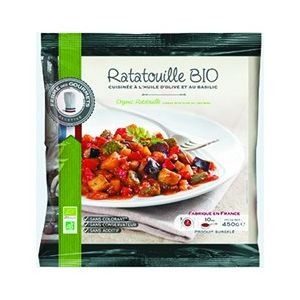 Organic ratatouille - 450g (frozen) no preservative, no additive, no colouring
