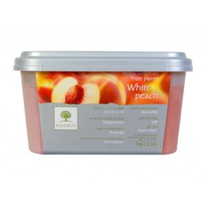 Frozen white peach puree sweetened 10% from France - 1kg