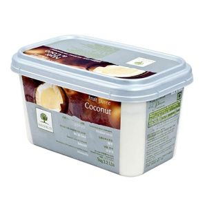 Frozen coconut puree sweetened 10% - 1kg - no added flavor, no added color