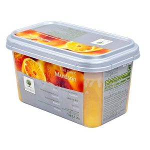 Frozen mandarin orange puree sweetened 10% - 1kg - no added flavor, color, preservative