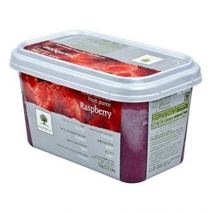 Frozen Williamette raspberry puree sweetened 10% - 1kg