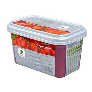 Frozen strawberry puree sweetened 10% - 1kg