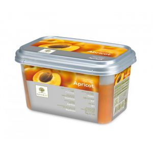 Frozen apricot puree sweetened 10% - 1kg - no added flavor, color, preservative