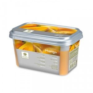 Frozen mango puree sweetened 10% - 1kg - no added flavor, color, preservative