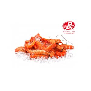 Red Label cooked shrimps 20/30 from Madagascar - 2kg - antibiotic-free, OGM-free, coloring-free - 5 days shelf-life