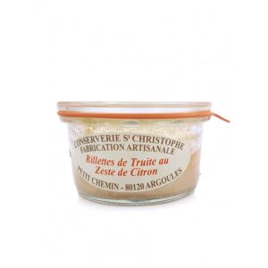 Ready-to-eat artisanal trout rillettes with lemon zest - 100g - 100% natural, no preservative