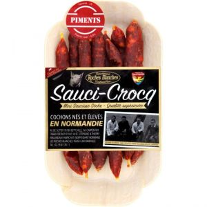 Mini-crocq mini artisanal chorizo piment - 100g - from porks born & bred in Normandie