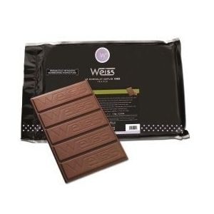 Gianduja chocolate for baking (milk chocolate for coverage 35% + hazelnut praline)  - 1kg