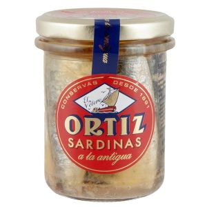 Sardines in olive oil - 190g - hand cleaned and aged in olive oil