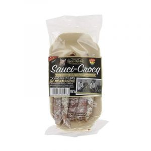 Sauci-crocq mini artisanal dry sausages - 100g - from porks born & bred in Normandie