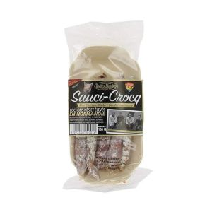 Sauci-crocq mini artisanal dry sausages with nuts - 100g - from porks born & bred in Normandie