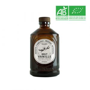 Organic vanilla syrup in glass bottle - 400ml