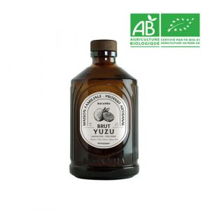 Organic yuzu syrup in glass bottle - 400ml