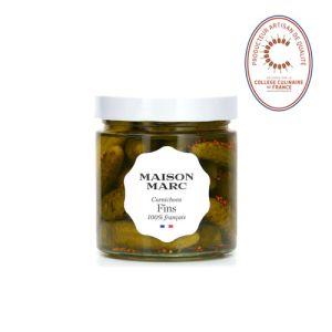 Handpicked French fine gherkins in vinegar - 210g - no herbicide, no pesticide, no preservative