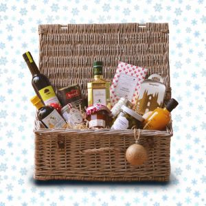 Gourmet hamper filled with festive delicacies !