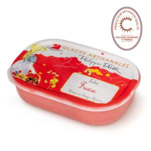 Artisanal strawberry sorbet - 750ml - EXPIRY 19.02 100% natural, no coloring, no taste enhancer, no artificial aroma, no preservative