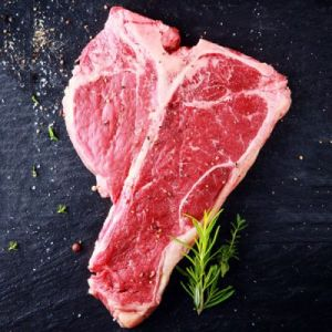 Pure black angus marbled T-bone beef steak 195 aed/kg over 1 1/2 inch thick - 1kg (halal) (chilled)