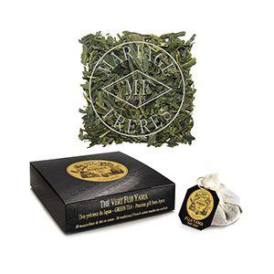 Fuji-Yama green tea, Jardin premier, special gift from Japan - 30 French cotton muslin tea infusers
