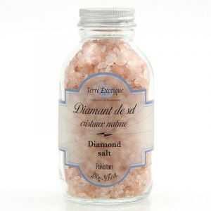 Diamond salt from Kashemir with pink crystals - 270g