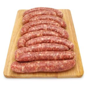 Chilled pork vacuum packed Toulouse sausages 120 aed/kg - price will be adjusted as per final weight