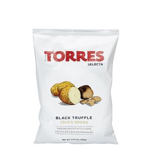 Gourmet potato crisps with black truffle - 125g