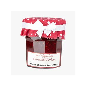 Alsatian strawberry and raspberry jam 100% natural, no preservative, no flavoring - 220g