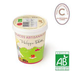 Artisanal organic vanilla ice cream - 500ml (frozen) - EXPIRY 06.05 - 100% natural, no coloring, no taste enhancer, no artificial aroma, no preservative