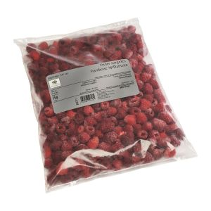 Frozen IQF Williamette raspberry 100% natural - 1kg