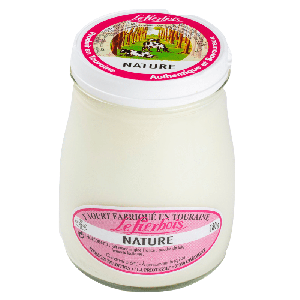 Plain stirred yogurt - 180g - artisan production