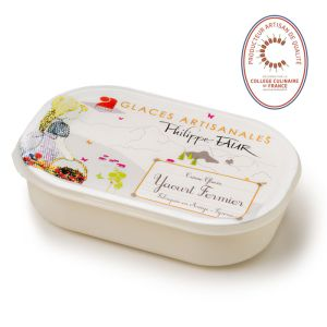 Artisanal farm yogurt ice cream - 750ml (frozen) - 100% natural, no coloring, no taste enhancer, no artificial aroma, no preservative