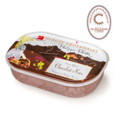 Artisanal dark chocolate ice cream - 750ml - 100% natural, no coloring, no taste enhancer, no artificial aroma, no preservative
