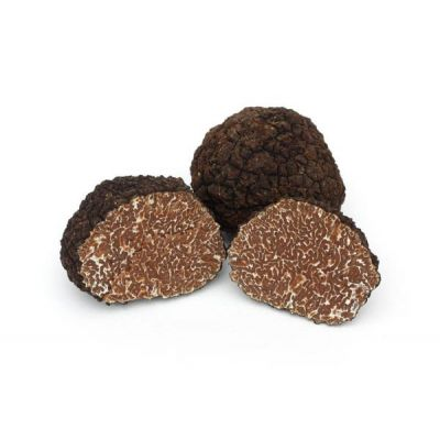 Fresh black autumn truffle (tuber uncinatum chati) - 100g - weight and price may vary as per market condition