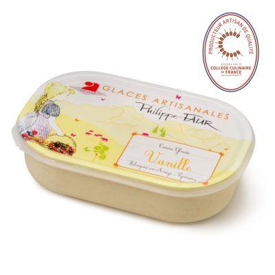 Artisanal vanilla ice cream - 750ml (frozen) - 100% natural, no coloring, no taste enhancer, no artificial aroma, no preservative