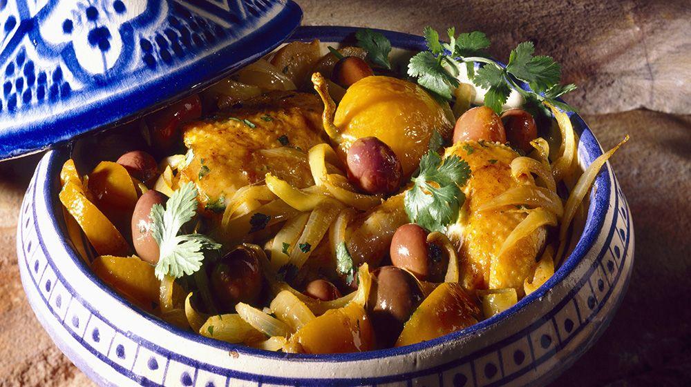 RAMADAN Chicken tajine with candied lemons and olives recipe