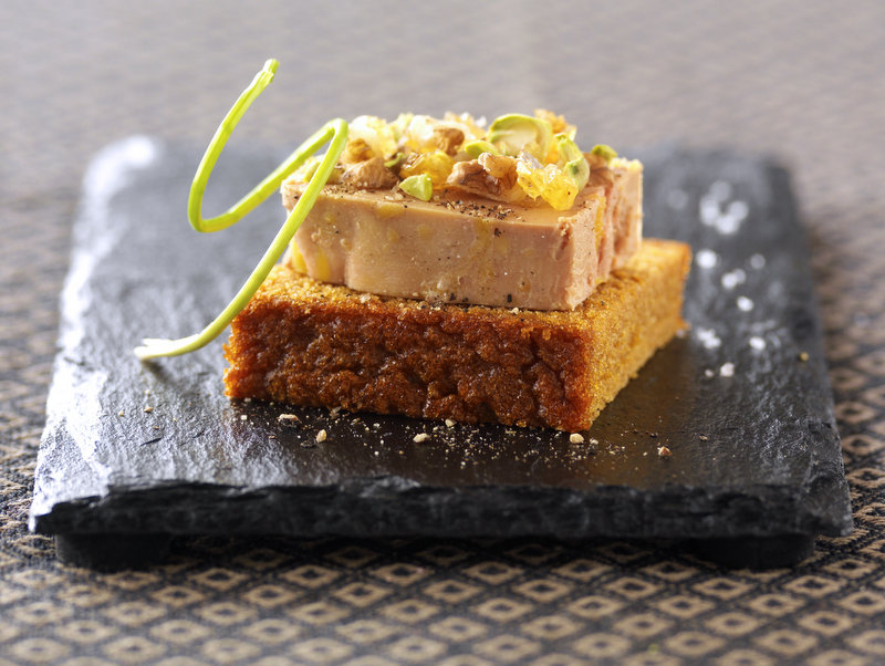 Duck Foie Gras with gingerbread toasts